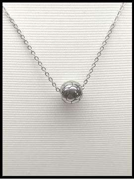 Soccer Ball Necklace - Silver Ball
