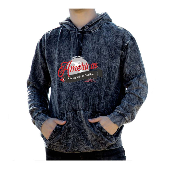 Softball Americas Road to Toyko Acid Wash Hoodie