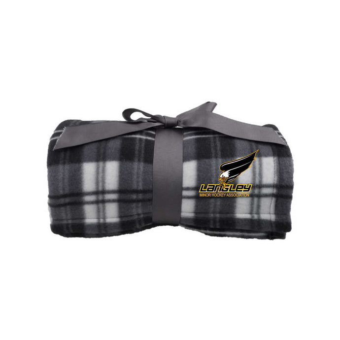 LMHA Plaid Fleece Blanket
