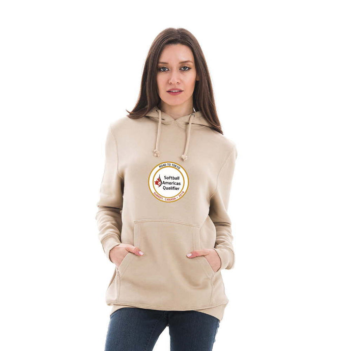 Softball Americas Road to Toyko Heavy Weight Hoodie - Gold Logo