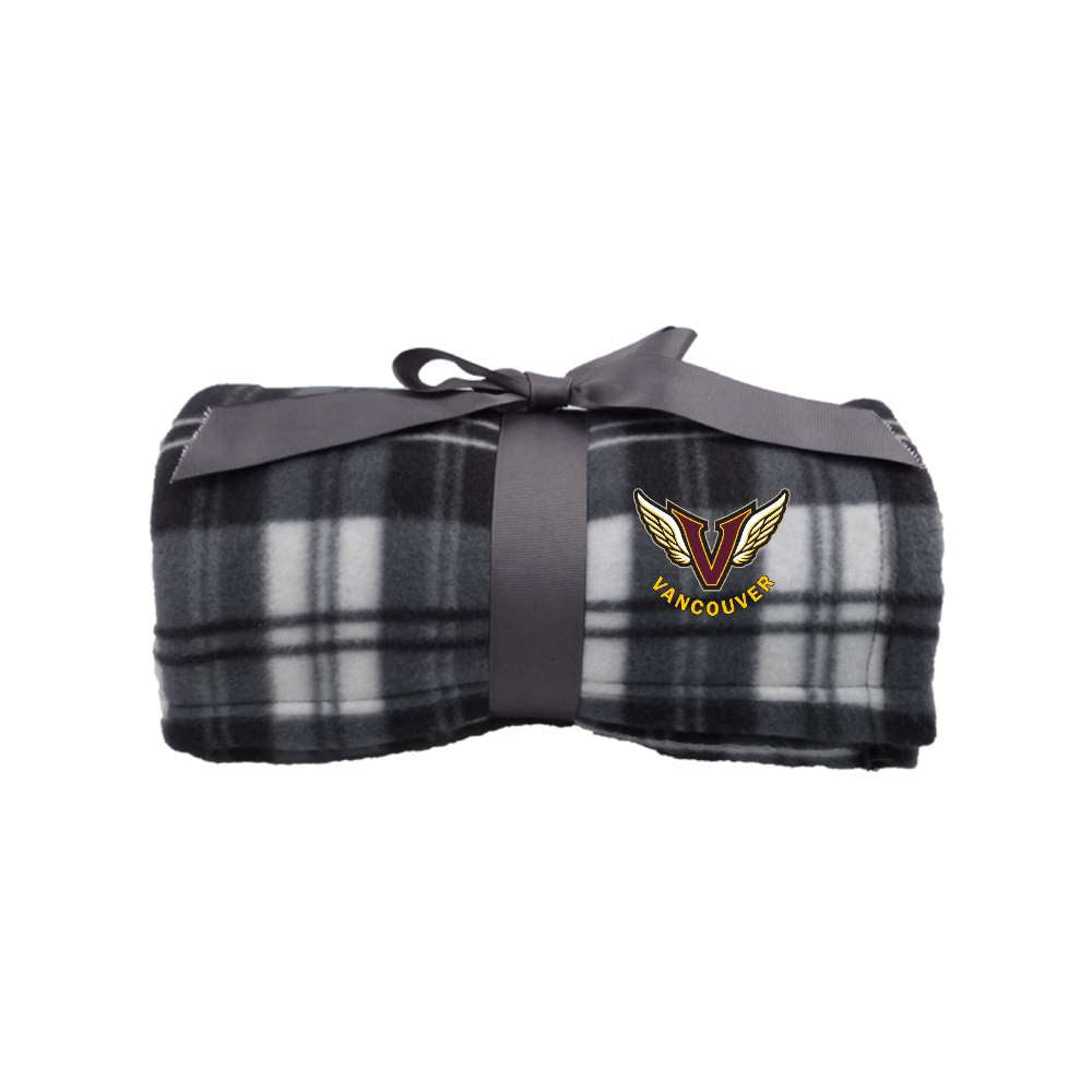 Angels Plaid Fleece Blanket