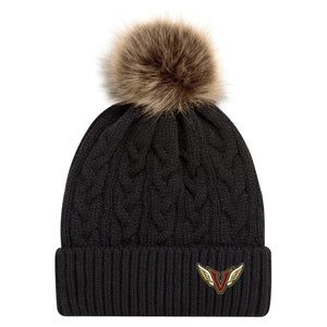 Angels Pom Toque with Faux Fur Pom