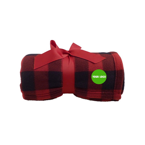 Corporate Gifts Plaid Fleece Blanket