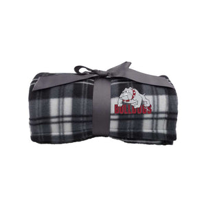 Bulldogs Blanket - Plaid Fleece