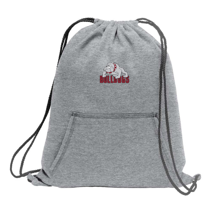 Bulldogs Fleece Sweatshirt Cinch Bag