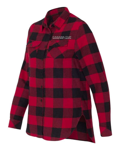 Canada Cup Softball Championship Flannel Shirt - Ladies