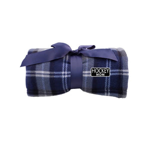 Hockey Mom Plaid Fleece Blanket
