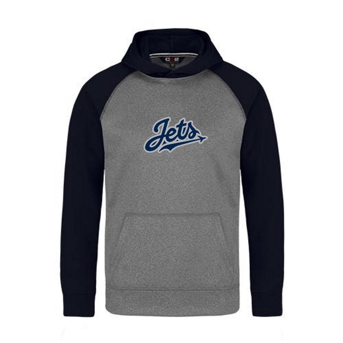 Jets 2-Tone Hoodie with Vintage Felt Logo - Youth