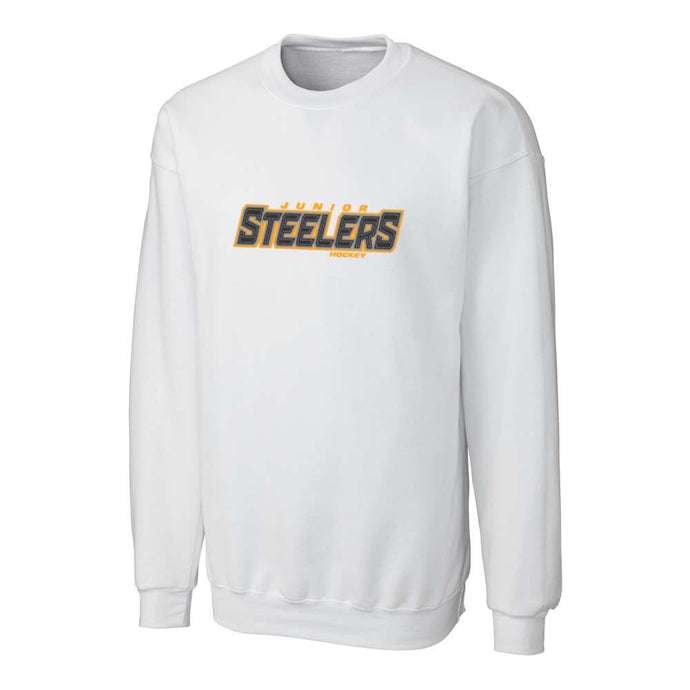 Jr Steelers White Crewneck Sweatshirt - Adult
