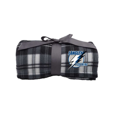 Langley Lightning Fleece Blanket
