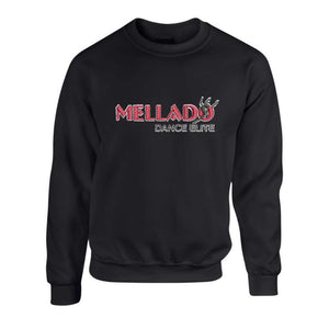 Mellado Dance Crew Neck Sweatshirt w/Embroidered Logo - Adult