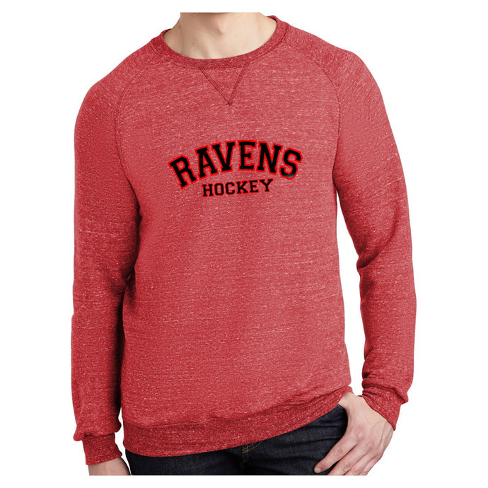 Ravens Snow Heather Crew Neck Sweatshirt - Unisex