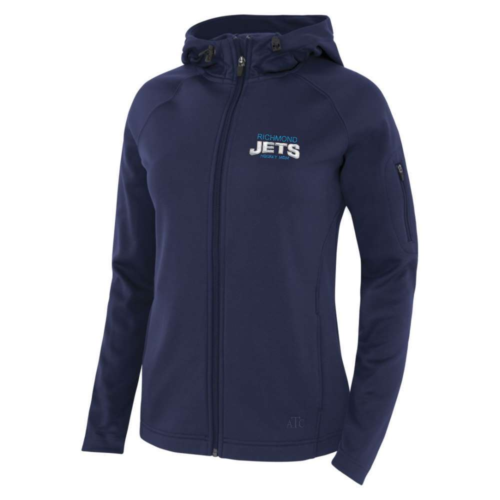 Richmond Jets Jacket - Fleece Hooded - Hockey Mom