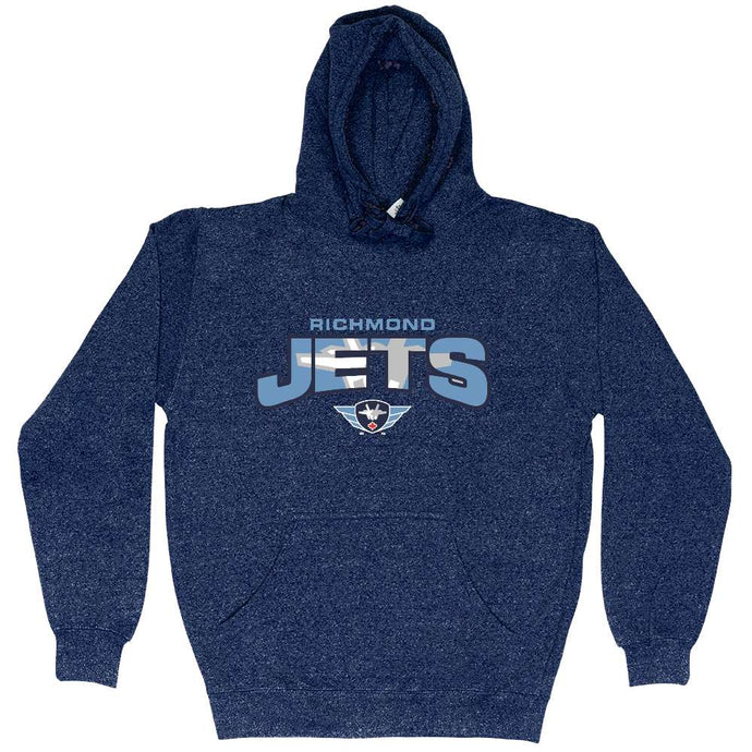 Richmond Jets Hoodie - Marled Applique Logo - Youth
