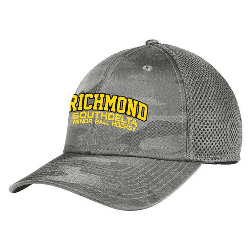 Richmond South Delta Minor Ball Hockey Camo Stretch Fitted Mesh Hat