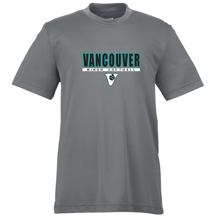 Vancouver Minor Softball Dryfit Tee Short Sleeve -  Adult