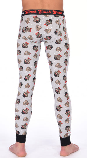 Pug Life Men's Long Johns