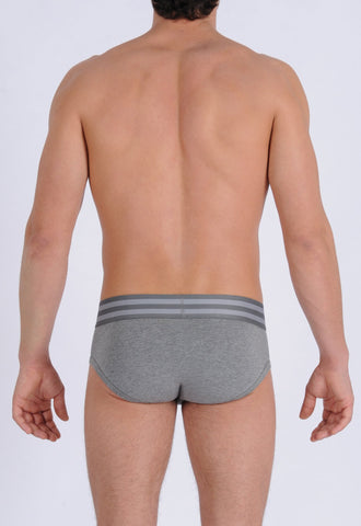 Men's Signature Series Underwear - Low Rise Brief Grey