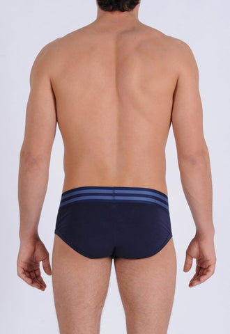 Men's Signature Series Underwear - Low Rise Brief Navy