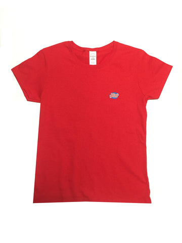 GG Red T-Shirt with Full Logo For Women