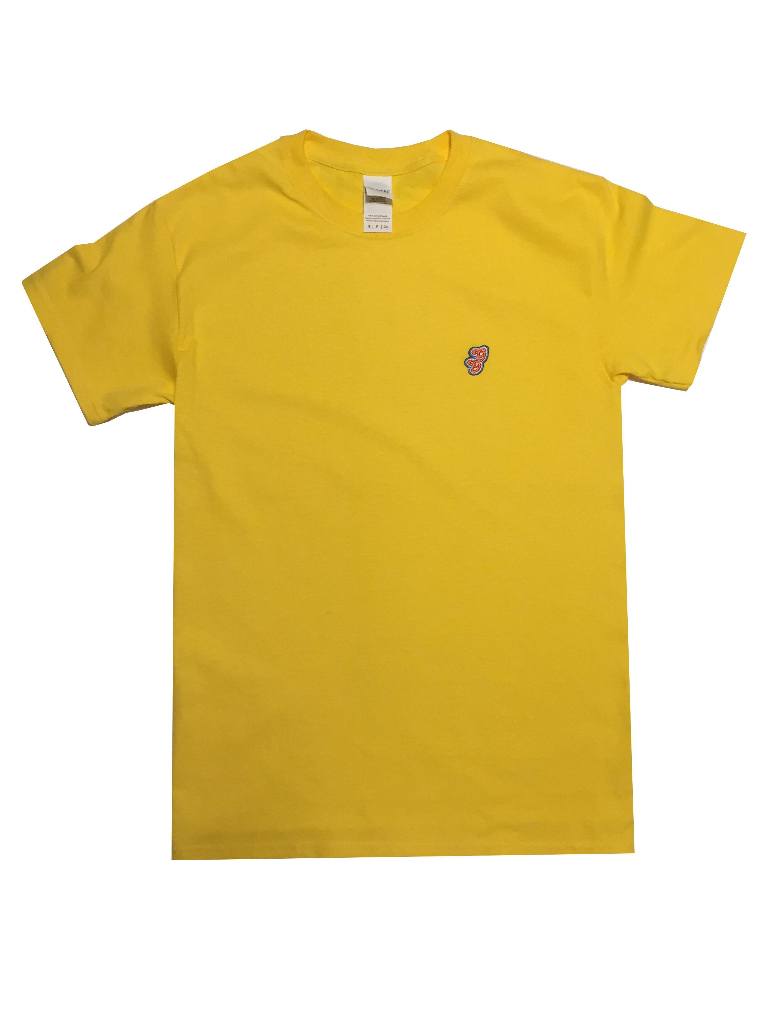 GG Yellow T-Shirt with Initials For Women