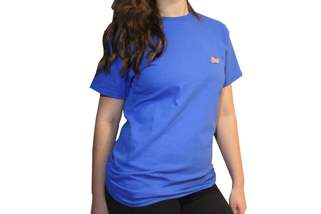 GG Blue T-Shirt with Full Logo For Women