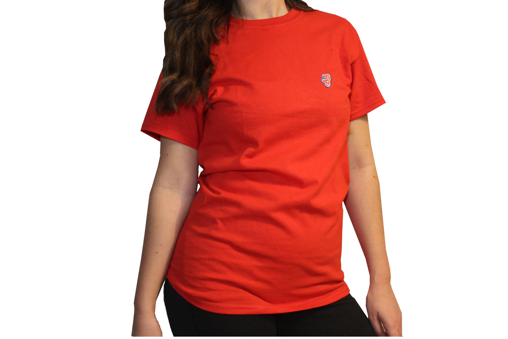 GG Red T-Shirt with Initials For Women