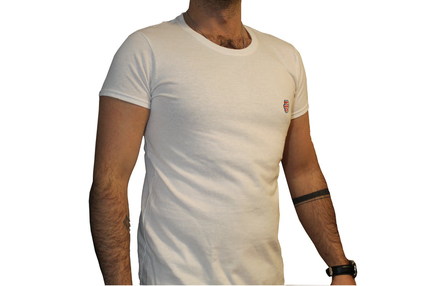 GG White T-Shirt with Initials For Men
