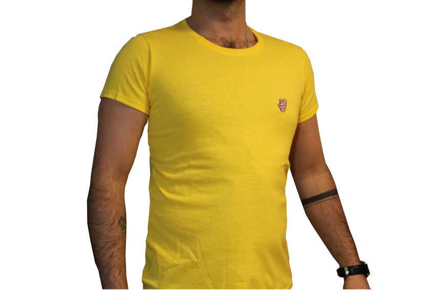GG Yellow T-Shirt with Initials For Men