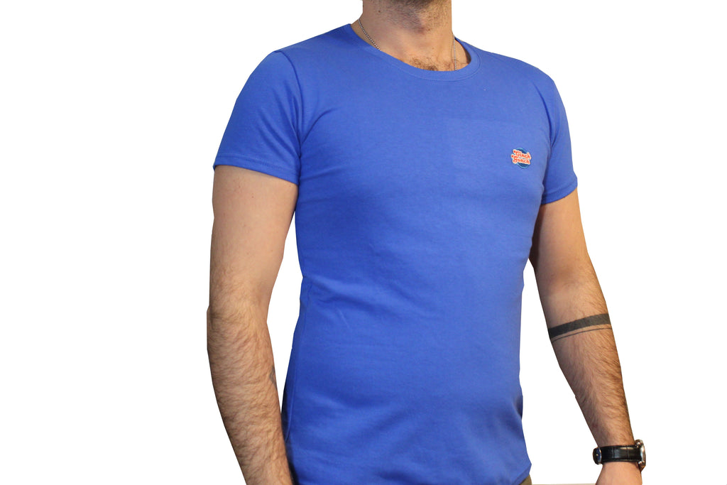 GG Blue T-Shirt with Full Logo (Men & Women)
