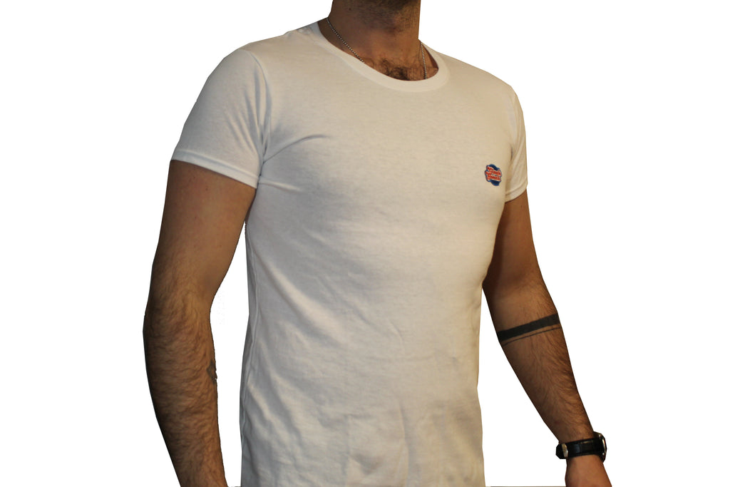 GG White T-Shirt with Full Logo For Men