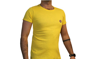 GG Yellow T-Shirt with Full Logo For Men