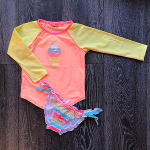 Girls Sorbet Stripe Rash Vest