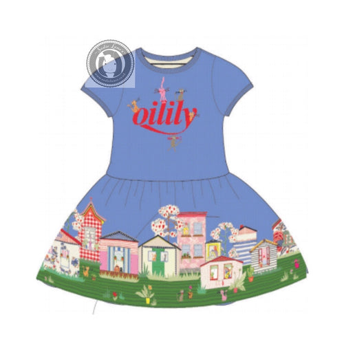 Oilily City Print Jersey Dress