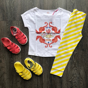 Oilily Yellow Stripe Leggings