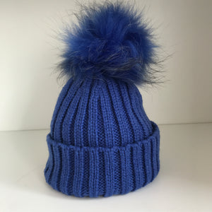 Bowtique Blue Bobble Hat