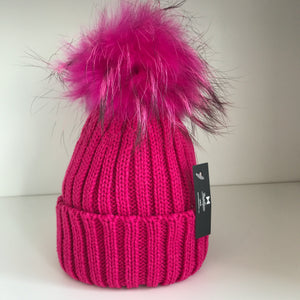 Bowtique Pink Bobble Hat