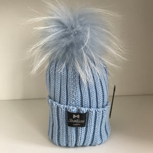 Bowtique Baby Blue Bobble Hat