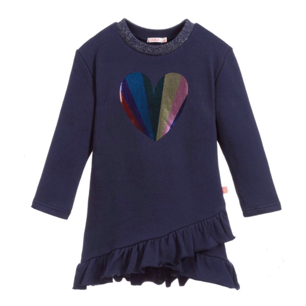 Billieblush Navy Heart Dress