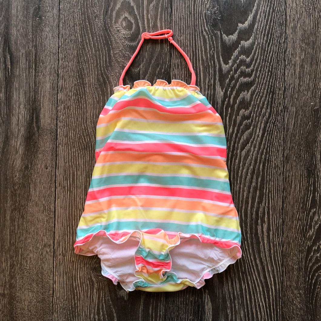 Girls Sorbet Stripe Swimsuit
