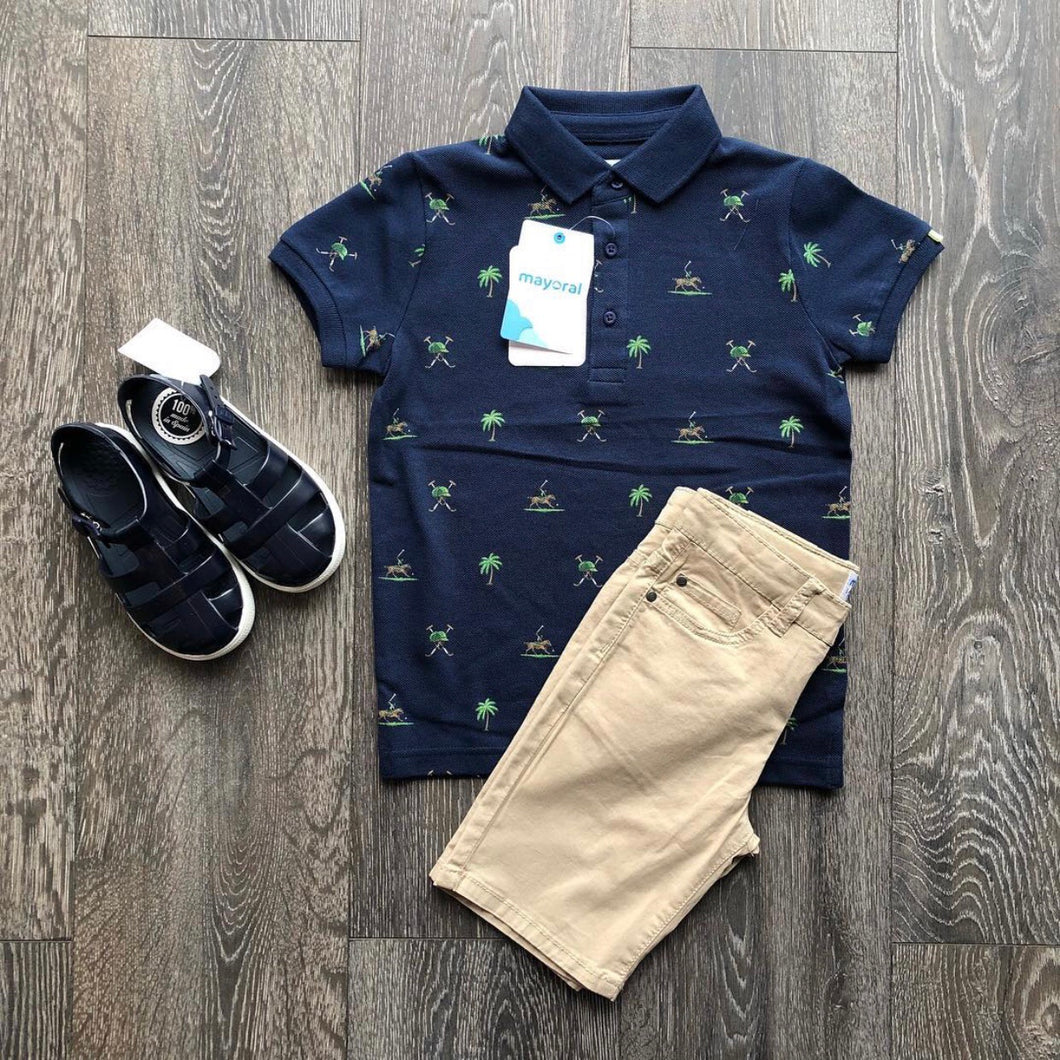 Mayoral S/S Polo Palm Tree
