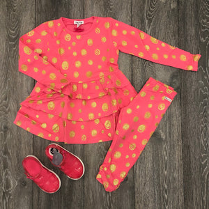 Happy Calegi Polka Dot Tunic Set