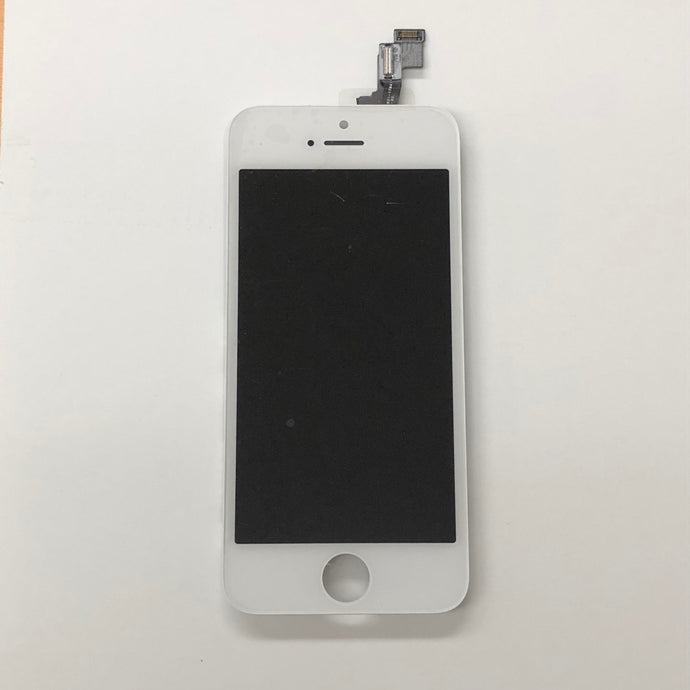 WHITE LCD ASSEMBLY FOR IPHONE SE (MIDGRADE QUALITY)