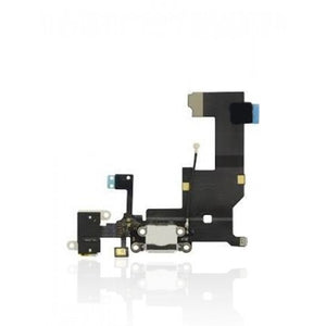 Charging Port Flex Cable For iPhone 5 (White)