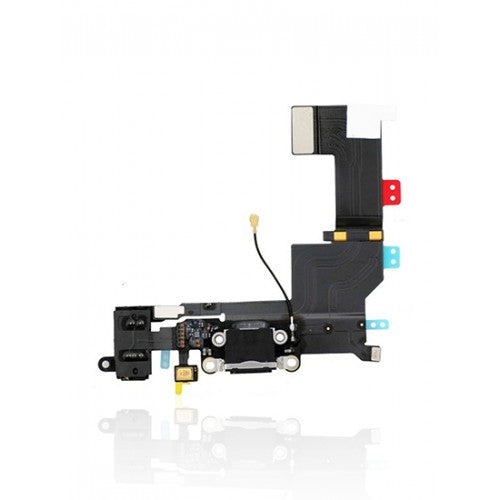 Charging Port Flex Cable For iPhone 5S (Black)