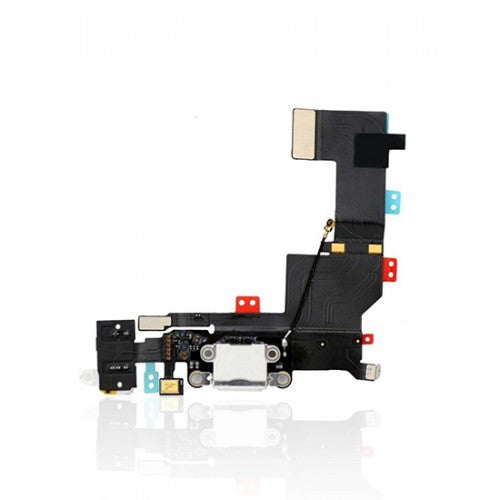 Charging Port Flex Cable For iPhone 5S (White)