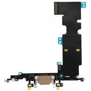 "Charging Dock Flex Cable for the iPhone 8 Plus (5.5"") Gold"