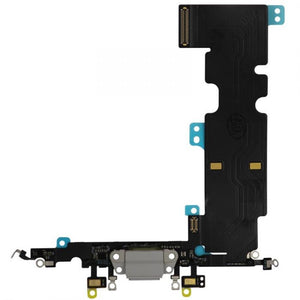 "Charging Dock Flex Cable for the iPhone 8 Plus (5.5"") Silver"