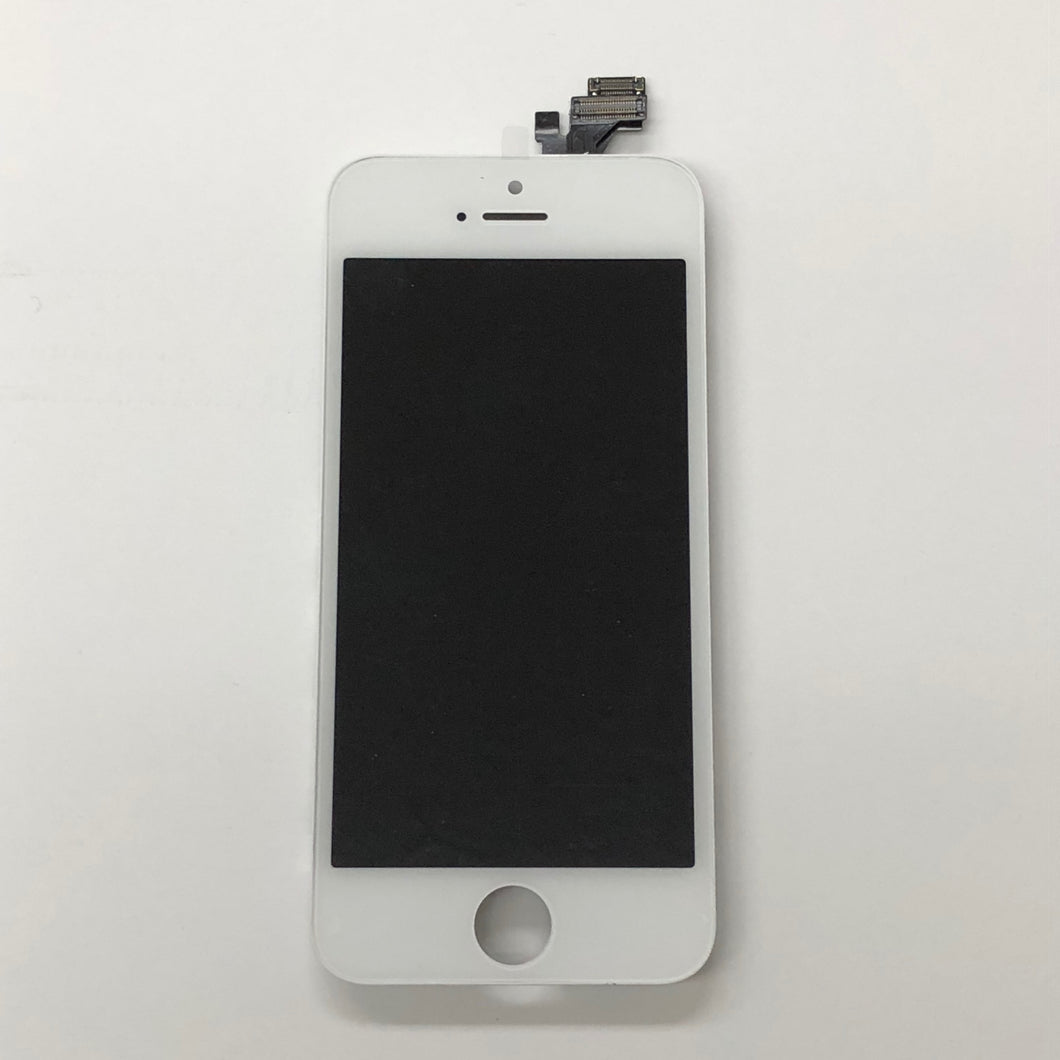 WHITE LCD ASSEMBLY FOR IPHONE 5 (MIDGRADE QUALITY)