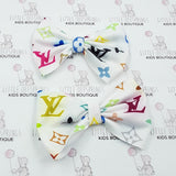 LV Inspired Bow - White